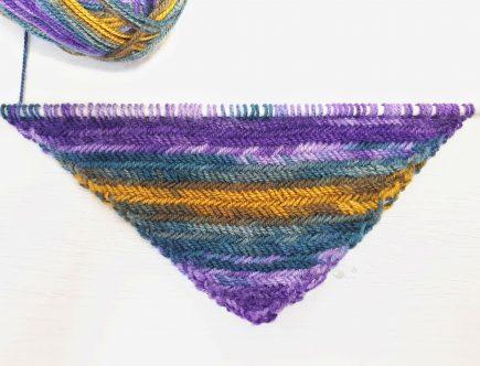 corner to corner herringbone knit stitch
