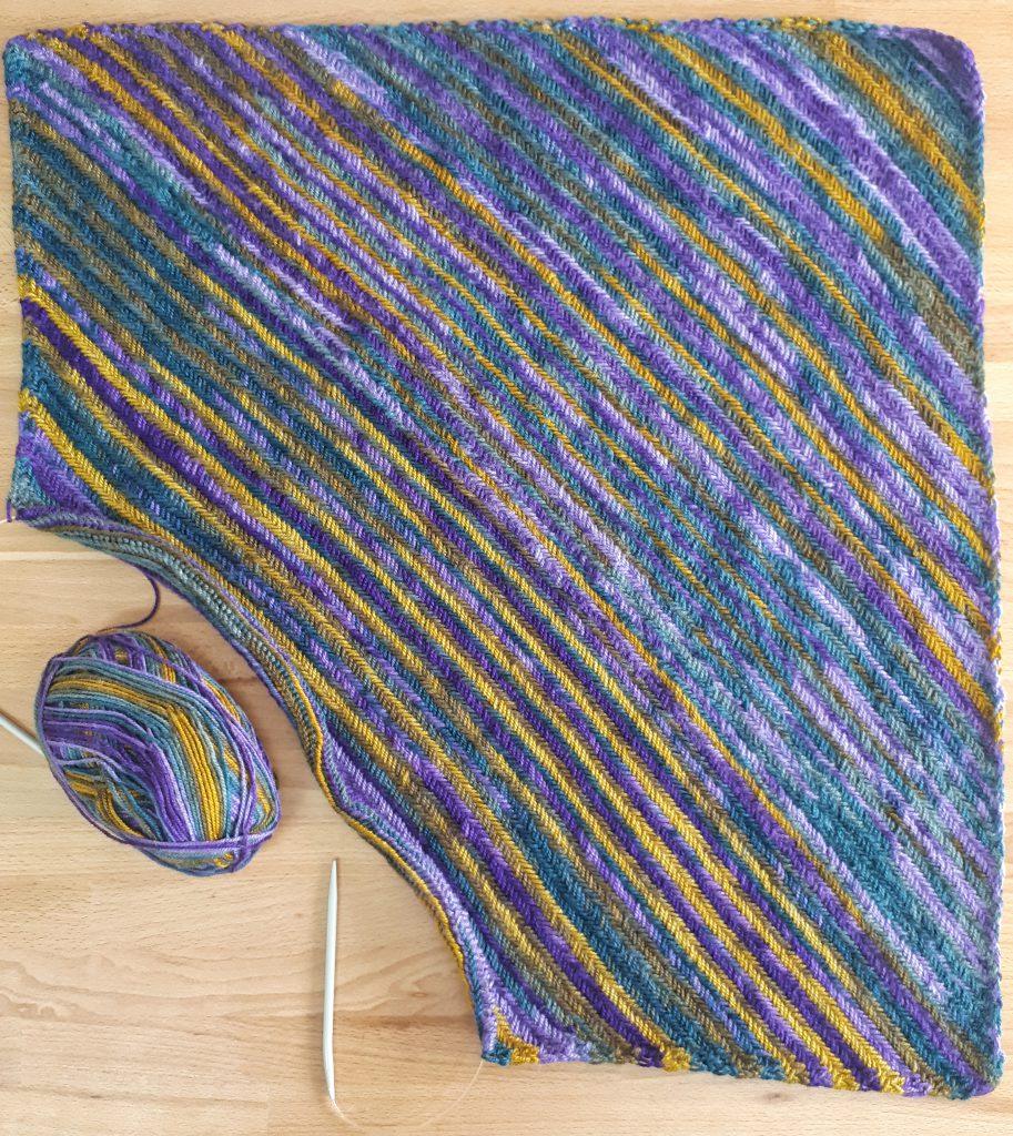 corner to corner knit blanket