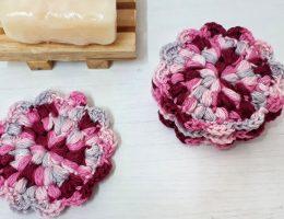 Reusable Crochet Flower Face Scrubbies