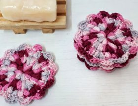 Reusable Crochet Flower Face Scrubbies