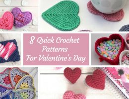 8 quick and fun crochet projects for valentine's day