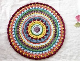 how to crochet mandala free pattern