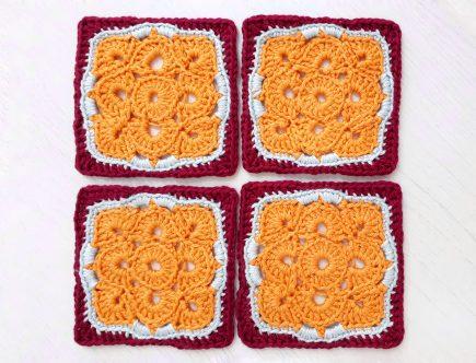 how to crochet a flower motif