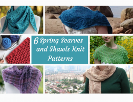 spring scarves and shawls knitting patterns