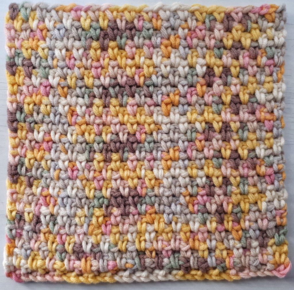 crochet moss stitch dishcloth