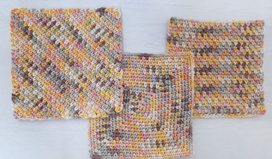 how to crochet the moss stitch in 3 different ways