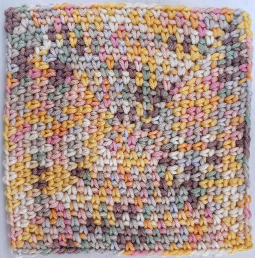 granite stitch in the round patter
