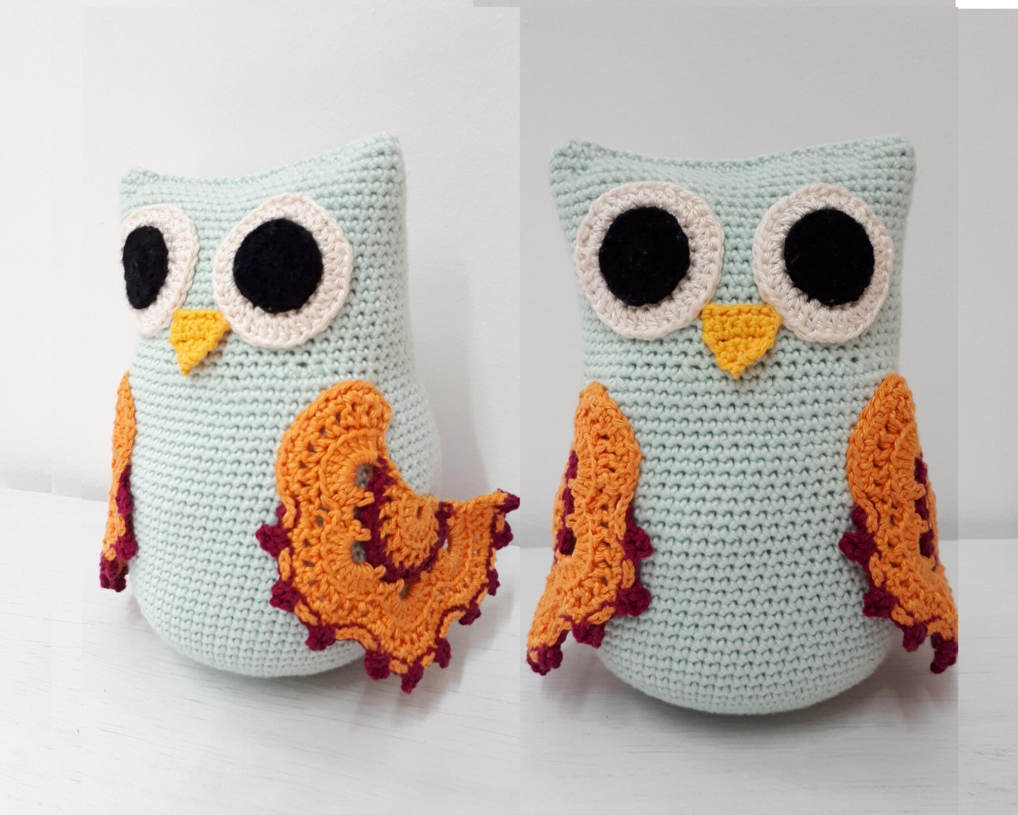 Knit Pillow Pattern Amigurumi Owl Knitted animal kids decor | Etsy | 1600x2000