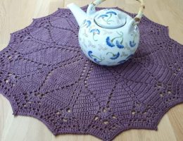 diamonds doily free crochet pattern