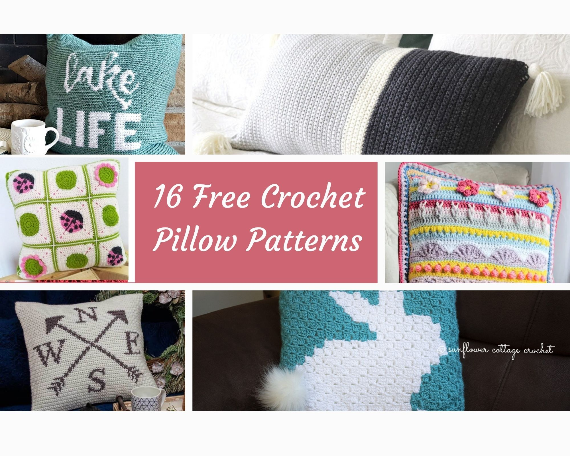 free crochet pillow pattern