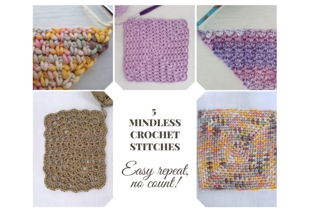 One row repeat crochet stitches