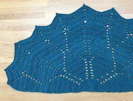 paved diamonds crochet rug pattern