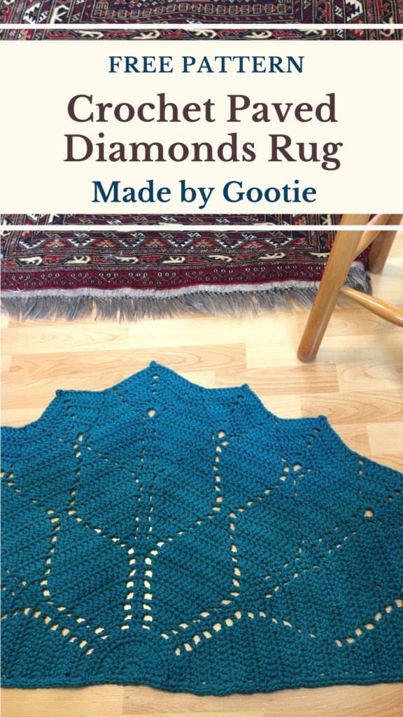 crochet half circle rug pattern