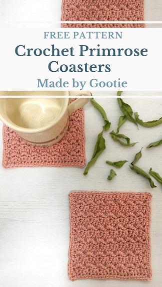free square crochet coasters pattern
