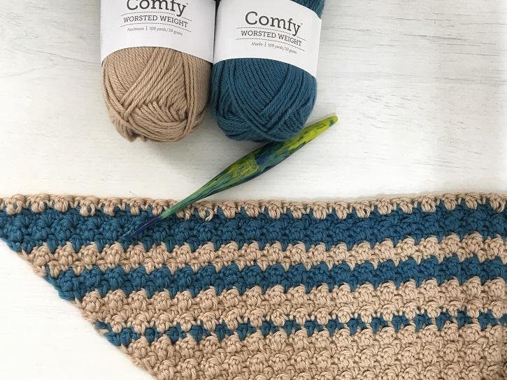 cluster stitch crochet blanket