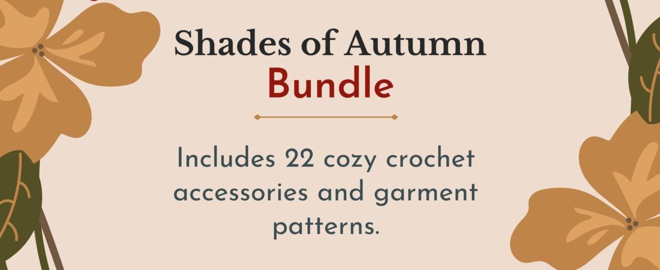 autumn crochet patterns bundle