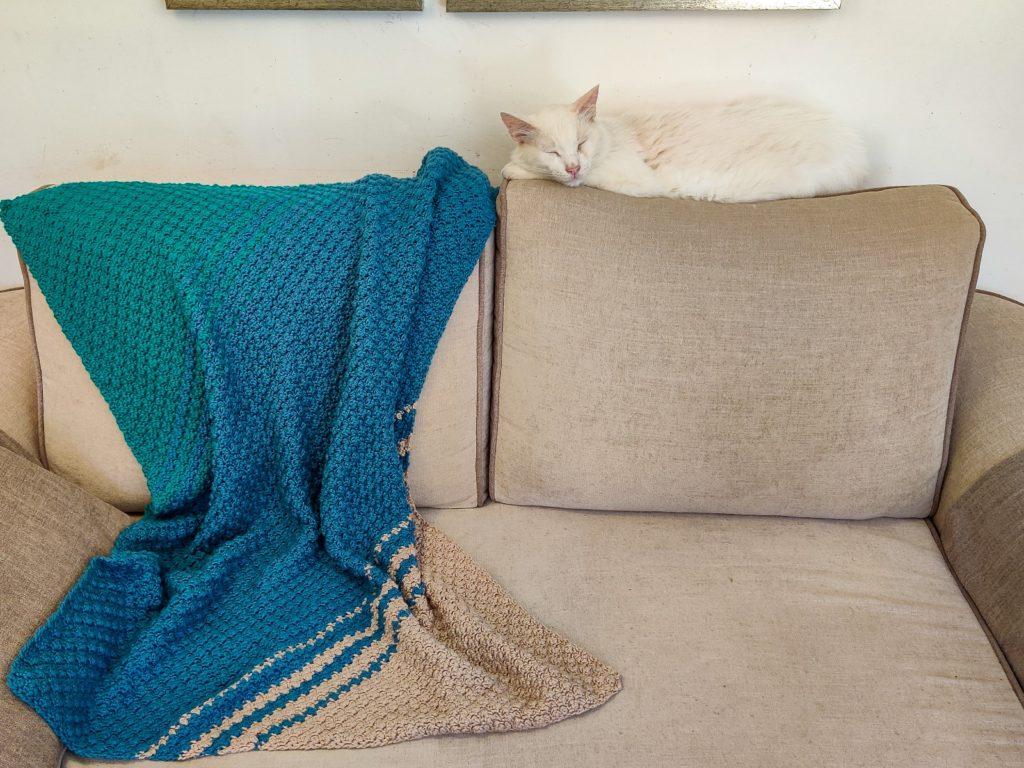 crochet c2c blanket stitch pattern
