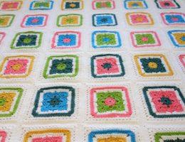 flower granny square free pattern